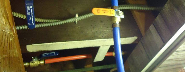 splice pex tubing in ceiling